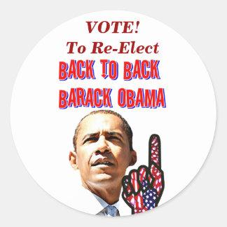 Back To Back,President Barack Obama_ Round Sticker