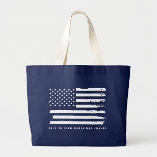 Back to Back World War Champs, American Flag Bags