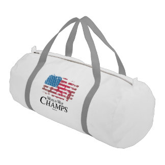 BACK TO BACK WORLD WAR CHAMPS GYM DUFFEL BAG