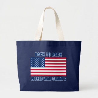 Back to Back World War Champs Jumbo Tote Bag