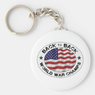 Back to Back World War Champs Keychains