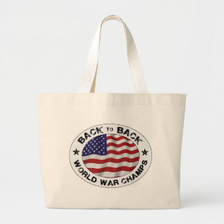Back to Back World War Champs Tote Bags