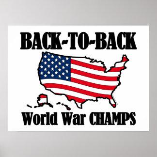 Back-To-Back WW Champs, USA Shape Poster