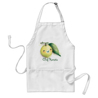 back to lime adult apron