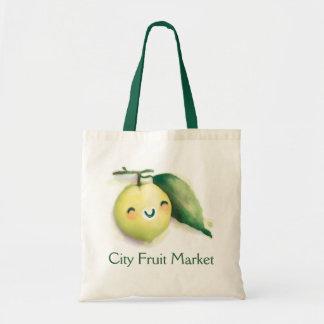 back to lime budget tote bag