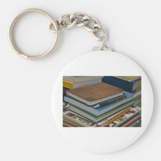 back to scholl basic round button key ring