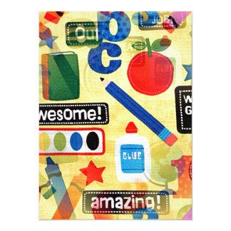 back to school 14 cm x 19 cm invitation card