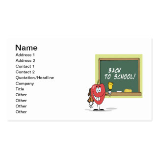 Back To School 4 Pack Of Standard Business Cards