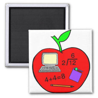 Back To School Apple Magnet