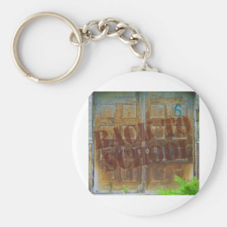 back to school basic round button key ring