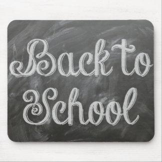 Back to School Blackboard Chalkboard Quote Mouse Pad
