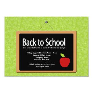 Back to School Blackboard Invitation