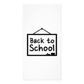 Back to School Blackboard Customized Photo Card
