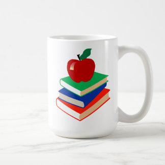 Back to School, Books and Apple Coffee Mug