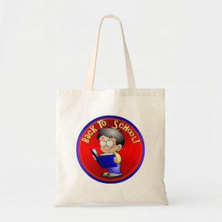 Back to School - Boy Reading Book Budget Tote Bag