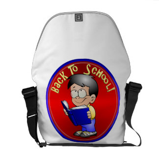 Back to School - Boy Reading Book Commuter Bag