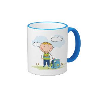 Back to school Boy Ringer Mug