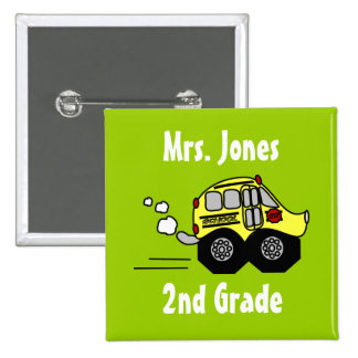 Back to School Bus Buttons