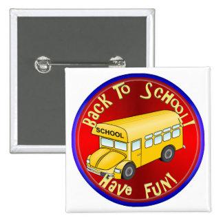 Back To School Bus Fun Pin