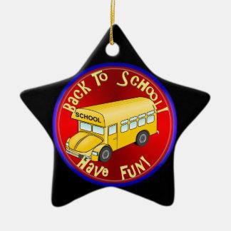 Back To School Bus Fun Christmas Tree Ornament