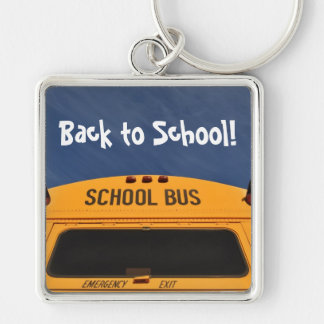 Back to School Bus Key Ring