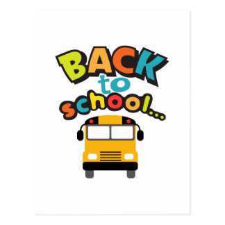 BACK TO SCHOOL BUS POSTCARDS