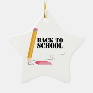 Back To School Ceramic Star Decoration