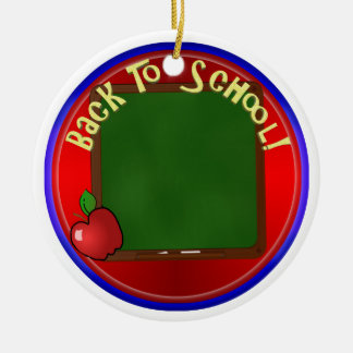 Back To School Chalk Board - Add Message Christmas Ornament