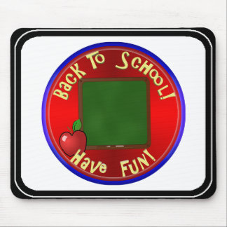 Back To School ChalkBoard - Add Text To Board Mouse Pad