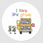 Back To School Clothes Classic Round Sticker