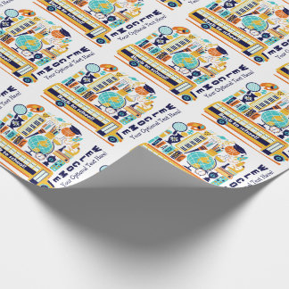 Back to School custom text wrapping paper