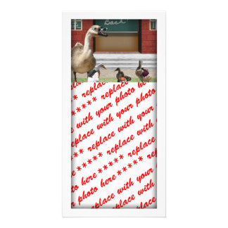 Back to School Ducks with Backpacks Photo Cards