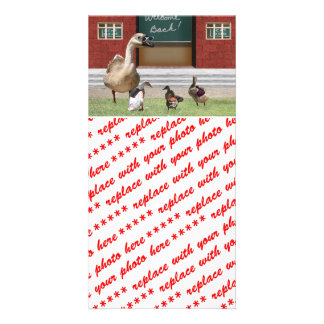 Back to School Ducks with Backpacks Photo Card