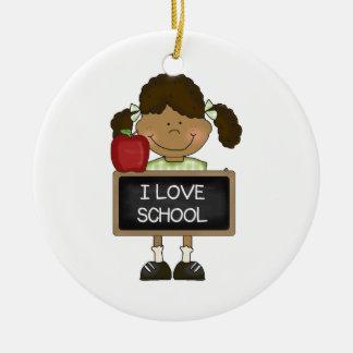 Back To School Elementary School Gift Round Ceramic Decoration