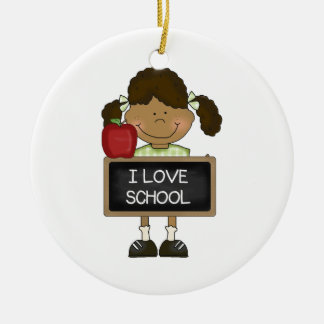Back To School Elementary School Gift Round Ceramic Decoration
