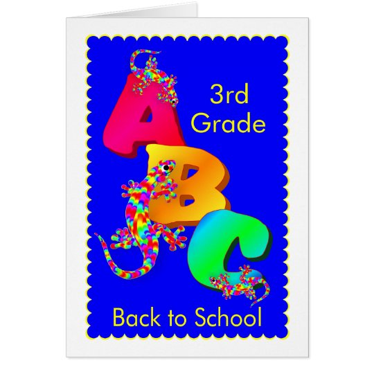 Back To School Encouragement Card for Kids