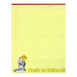 Back To School for Lil Robo-x9 21.5 Cm X 28 Cm Flyer