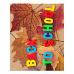 back to school full colour flyer