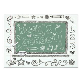 Back to School Green Board Invitation