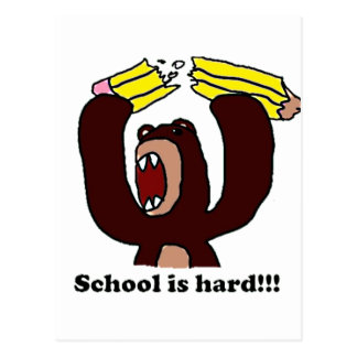 Back to School Grumpy Bear png Post Card
