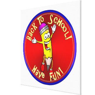 Back To School - Happy Pencil Canvas Prints