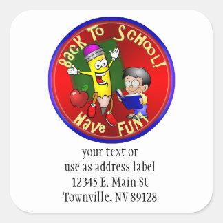 Back To School - Happy Pencil - Have Fun Sticker
