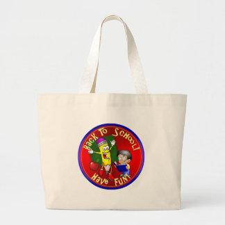 Back To School - Happy Pencil - Have Fun! Jumbo Tote Bag