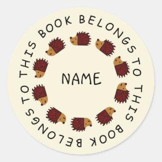 Back To School Hedgehog Sticker