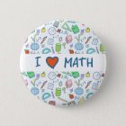 """Back to school: """"I love math"""" button"""