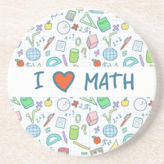 "Back to school: ""I love math"" coaster"