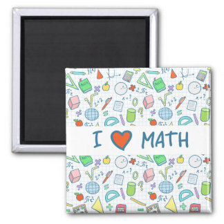 "Back to school: ""I love math"" magnet"