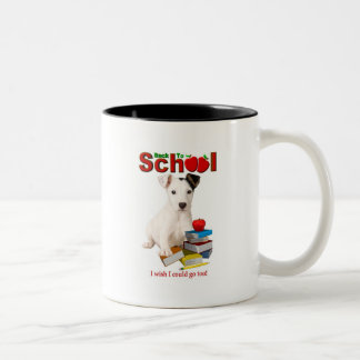 Back To School - Jack Russell Terrier Two-Tone Coffee Mug