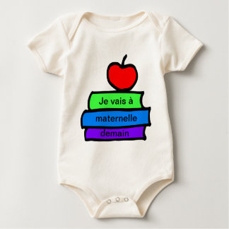 , Back to School, Je vais a maternelle demain Baby Bodysuit