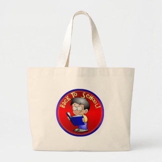 Back To School - Little Boy Reading Book Jumbo Tote Bag
